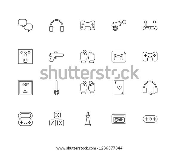 Set 20 Linear Arcade Icons Such Stock Vector (Royalty Free) 1236377344