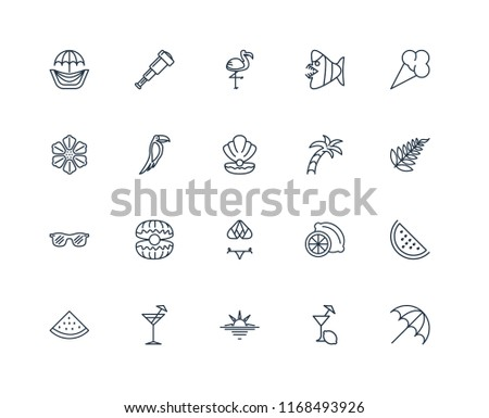 7d5c46a51edf Set 20 Linear Icons Such Sun Stock Vector (Royalty Free) 1168493926 ...