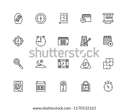 set 20 linear icons such tea stock vector royalty free 1170532165