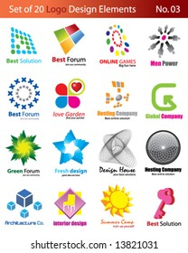 Set of 20 Logo Elements
