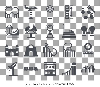 Set Of 20 transparent icons such as DUNK, Slide, Shooting, Sports ball, Rocket, Whack a mole, Bumper car, Ride, Castle, Boat, Childhood, icon pack, pixel perfect