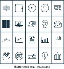 Set Of 20 Universal Editable Icons. Can Be Used For Web, Mobile And App Design. Includes Icons Such As Line Grid, Market Research, Wallet And More.