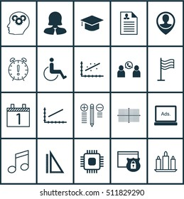 Set Of 20 Universal Editable Icons. Can Be Used For Web, Mobile And App Design. Includes Icons Such As Measurement, Square Diagram, Digital Media And More.