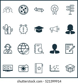 Set Of 20 Universal Editable Icons. Can Be Used For Web, Mobile And App Design. Includes Elements Such As Warranty, Analysis, Cooperation And More.