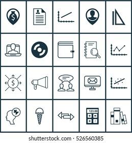 Set Of 20 Universal Editable Icons. Can Be Used For Web, Mobile And App Design. Includes Elements Such As Library, Dialogue, Frozen Food And More.