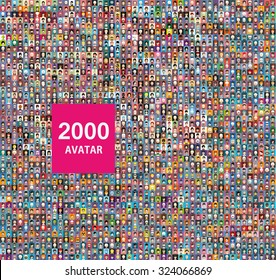 Set of 2000 color,diferent avatar