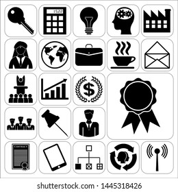Set of 22 business high quality icons. Collection. Detailed design. Vector Illustration.