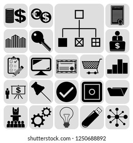 Set of 22 business icons, high quality. Collection. Amazing desing. Vector Illustration.