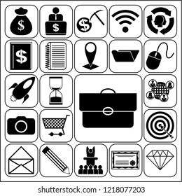 Set of 22 business icons, pictograms, symbols. Collection. Amazing desing. Vector Illustration.