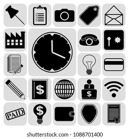 Set of 22 business icons or sSet of 22 business icons. Collection. Amazing desing. Vector Illustration.ymbols. Collection. Detailed design. Vector Illustration.