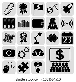 Set of 22 business icons or symbols. Collection. Amazing desing. Vector Illustration.