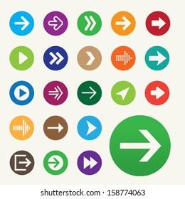 Set of 22 vector arrow icons.