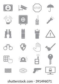 Set of 24 grey guard icons