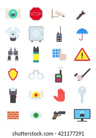 Set of 24 guard vector icons