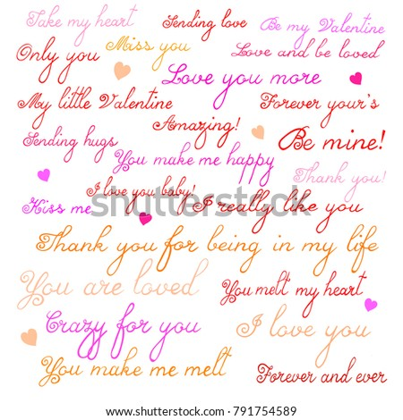 Set 24 Inspirational Quotes About Love Stock Vector Royalty Free
