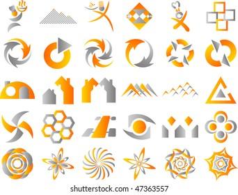Set of 24 Vector Icon Design Elements