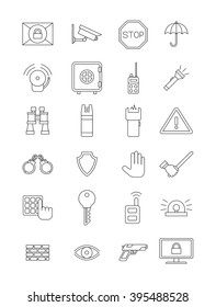 Set of 24 vector secutity icons