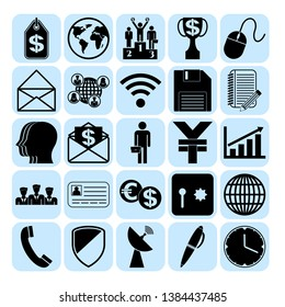 Set of 25 business high quality symbols. Collection. Detailed design. Vector Illustration.