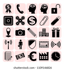 Set of 25 business related icons. Collection. Amazing desing. Vector Illustration.