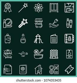 Set Of 25 Other Outline Icons Such As Umbrella, Id Card, Valet, Slide