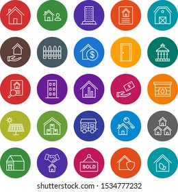 Set of 25 real estate Icons on White Background Vector Isolated Elements...