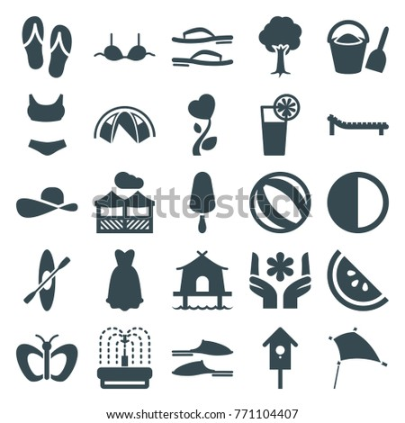 f2c96da27491 Set 25 Summer Filled Icons Such Stock Vector (Royalty Free ...