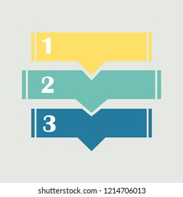 Set of 3 abstract colorful divided banners