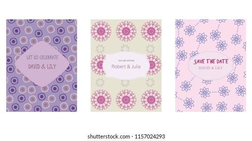 save date postcards inscription template colorful handmade stock