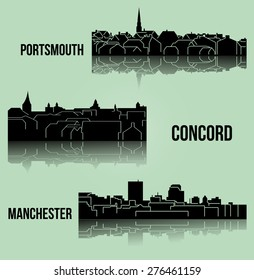 Set of 3 city in New Hampshire ( Concord, Manchester, Portsmouth )