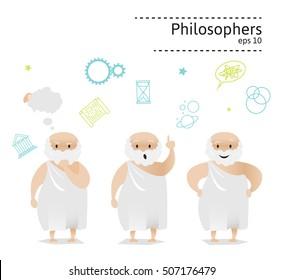 Set of 3 philosophers