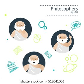 Set of 3 philosophers