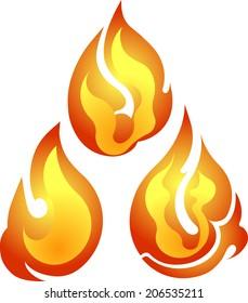 Set of 3 vector fires
