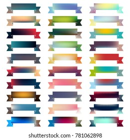 Set of 30 abstract colorful vector banners