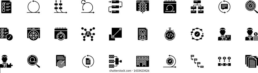A set of 30 Agile Development Icons