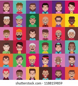 Set of 35 avatar (color version)