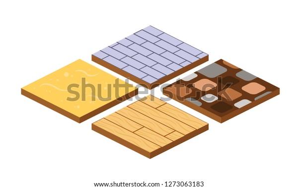 Vetor Stock De Set 3d Landscape Design Tiles Different Livre De Direitos 1273063183