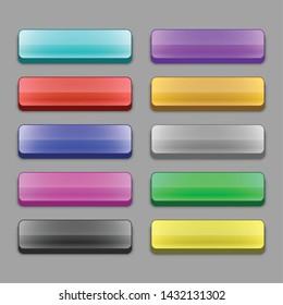 set of 3d wide web buttons