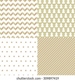 Set of 4 abstract patterns