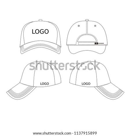 set 4 blank hats design templates stock vector royalty free