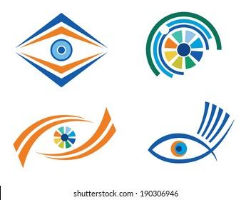 Set of 4 eye icons