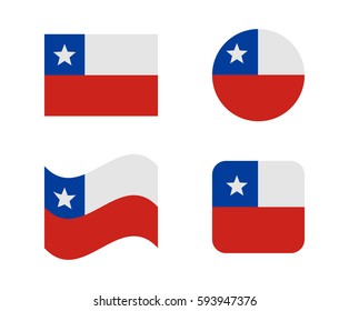 set 4 flags of chile