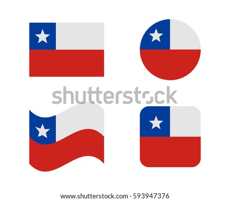 set 4 flags chile stock vector royalty free 593947376 shutterstock