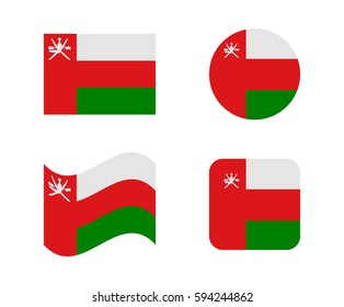 set 4 flags of oman