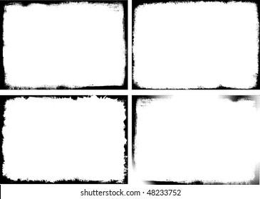 Set of 4 grunge frame