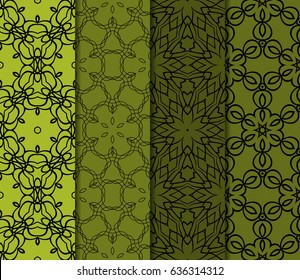 set of 4 modern seamless pattern. floral theme. vector illustration