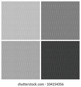 Set of 4 monochrome elegant seamless patterns