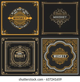 Set of 4 old cards. Western style