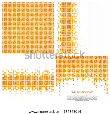 Set 4 Pixel Templates Your Design Stock Vector Royalty Free
