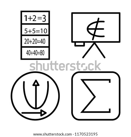 Set 4 Vector Icons Such Exam Stock Vector Royalty Free 1170523195