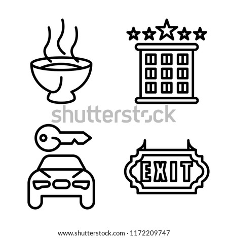 Set 4 Vector Icons Such Soup Stock Vector Royalty Free 1172209747